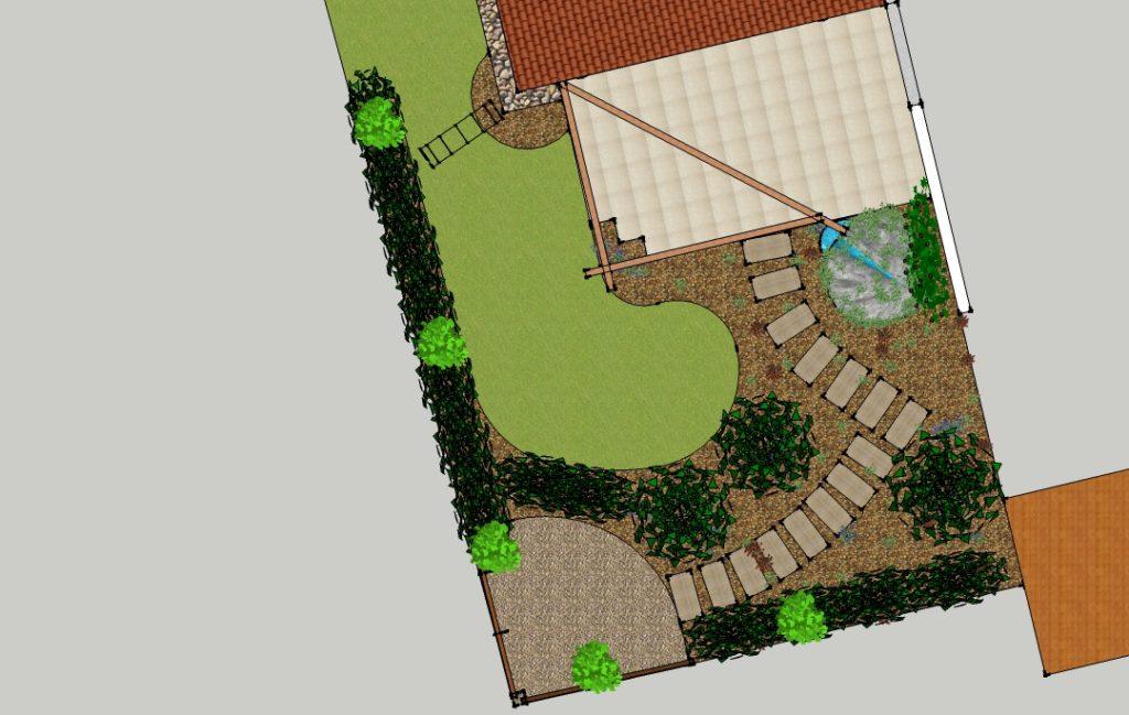 Gartenplan - 2D