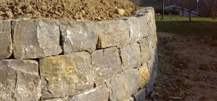 Trockenmauerbau in Vaihingen/Enz